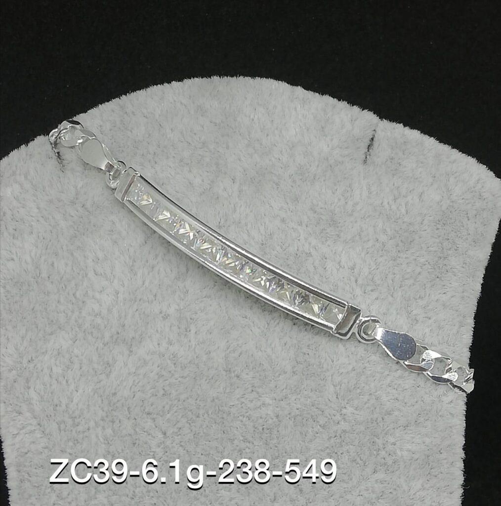 esclavas de plata con nombre grabado