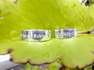 anillos de plata grabados